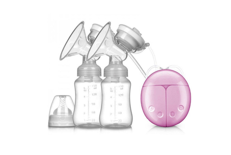 Electric Double Breast Pump - Blue | Wowcher
